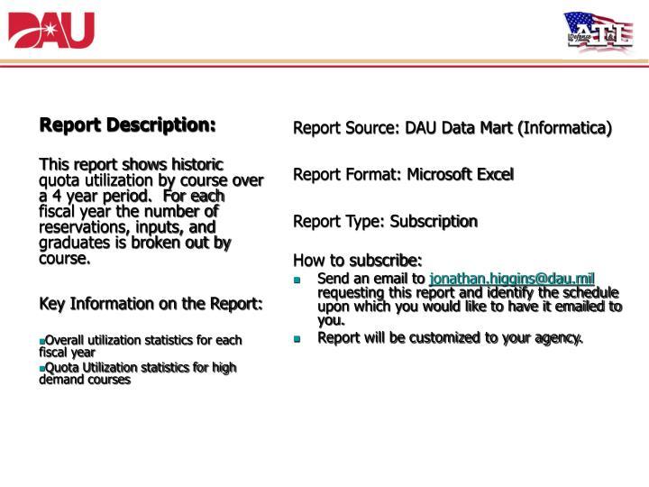 7. Historic Quota Utilization Report
