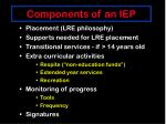 components of an iep1