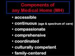 components of any medical home mh