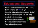 educational supports