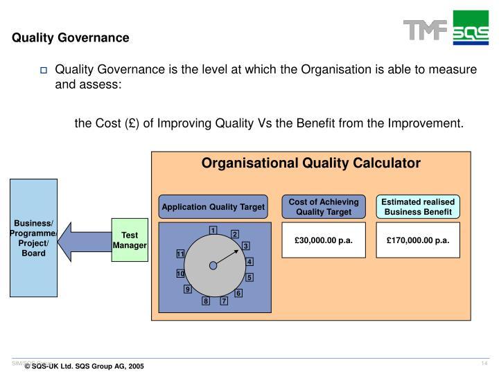 Organisational Quality Calculator