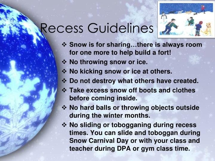Recess guidelines1