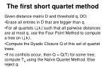 the first short quartet method