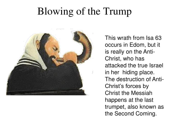 This wrath from Isa 63 occurs in Edom, but it is really on the Anti-Christ, who has attacked the true Israel in her  hiding place.  The destruction of Anti-Christ's forces by Christ the Messiah happens at the last trumpet, also known as the Second Coming.