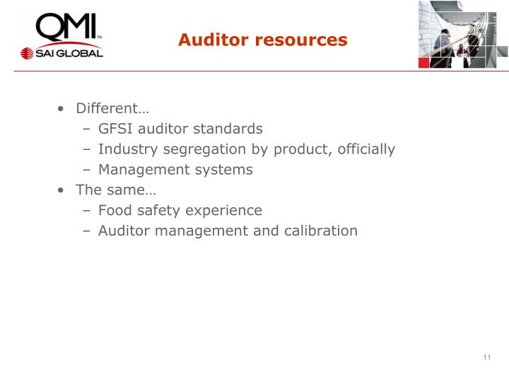 Auditor resources