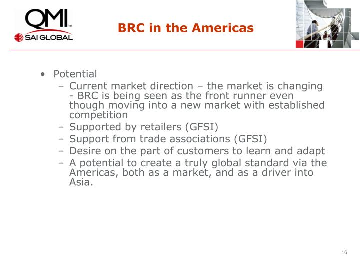 BRC in the Americas