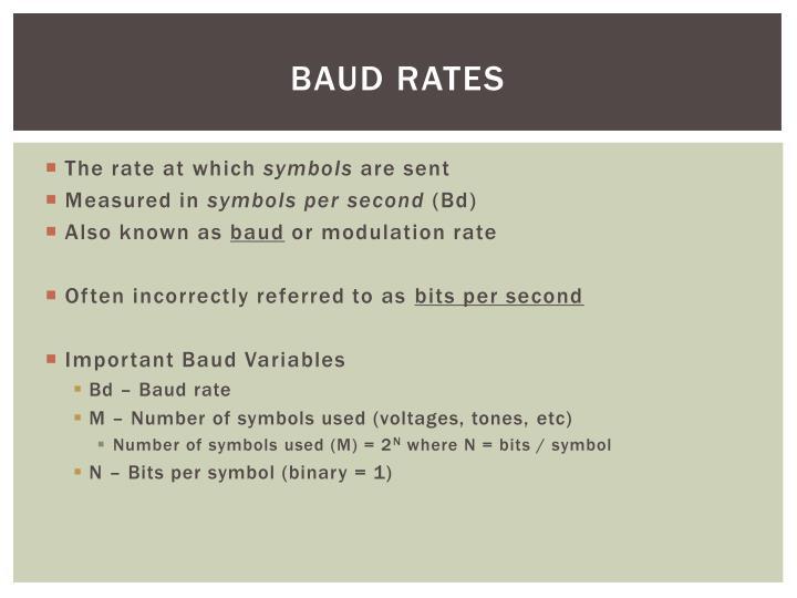 BAUD Rates