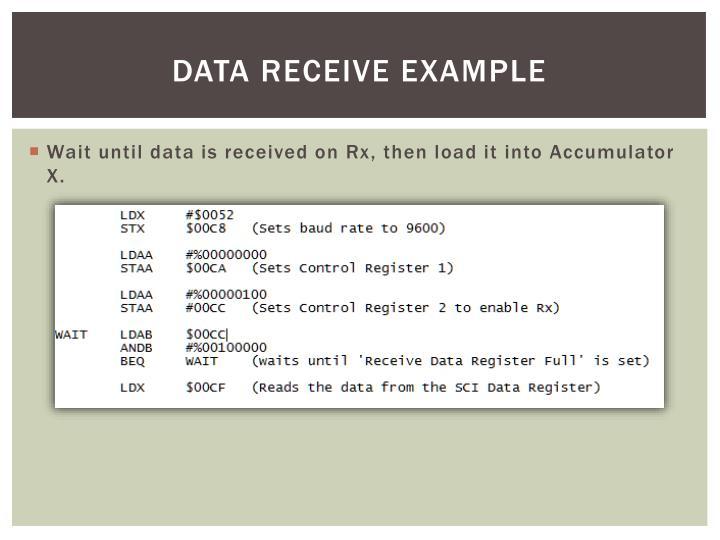 Data Receive Example
