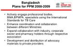 bangladesh plans for ppm 2008 2009