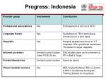 progress indonesia
