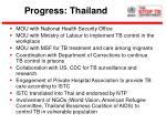 progress thailand