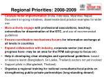 regional priorities 2008 2009