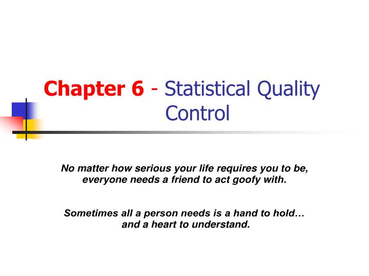chapter 6 statistical quality control n.
