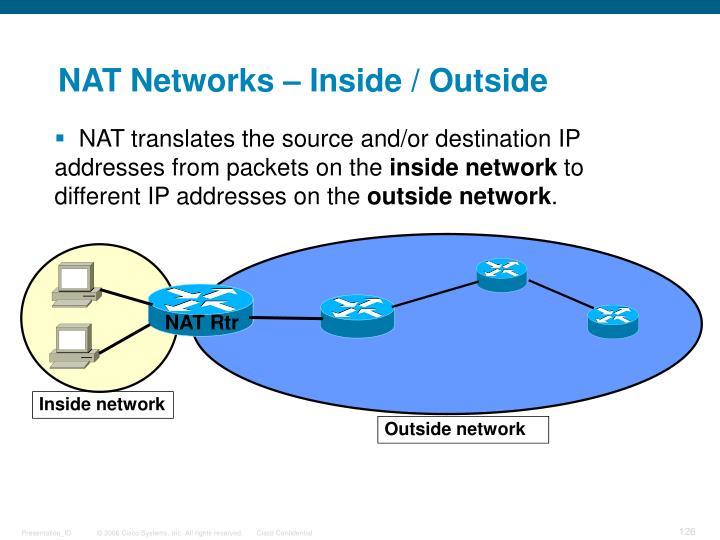 NAT Networks – Inside / Outside