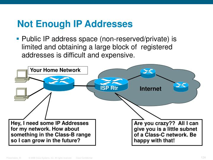 Not Enough IP Addresses