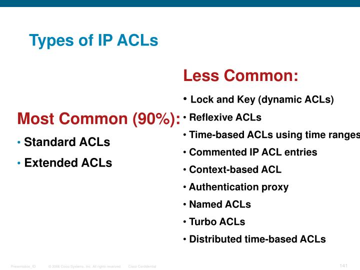 Types of IP ACLs