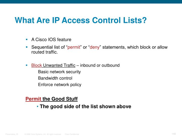 What Are IP Access Control Lists?