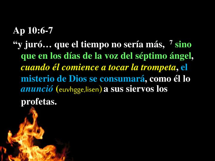 Ap 10:6-7