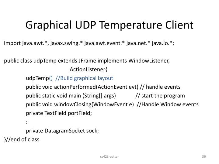Graphical UDP Temperature Client