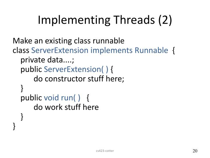 Implementing Threads (2)