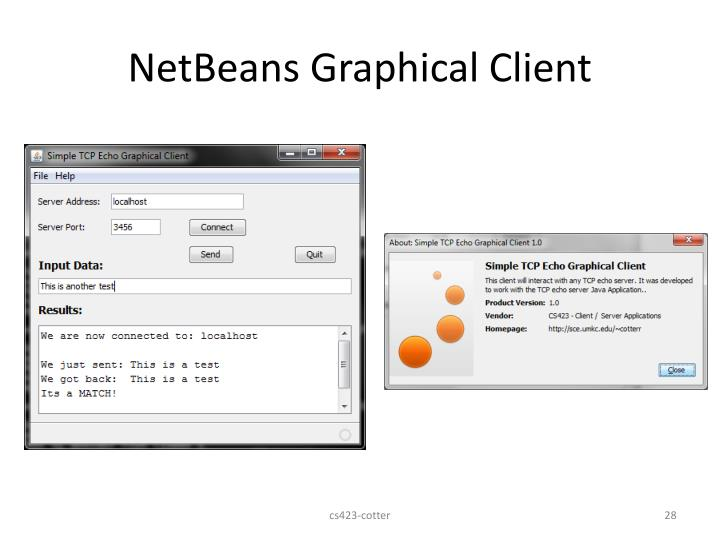 NetBeans Graphical Client
