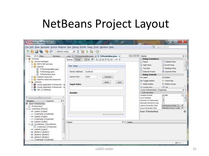 NetBeans Project Layout