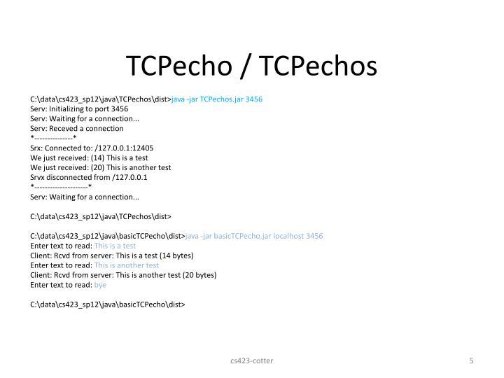 TCPecho / TCPechos