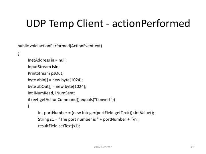 UDP Temp Client -