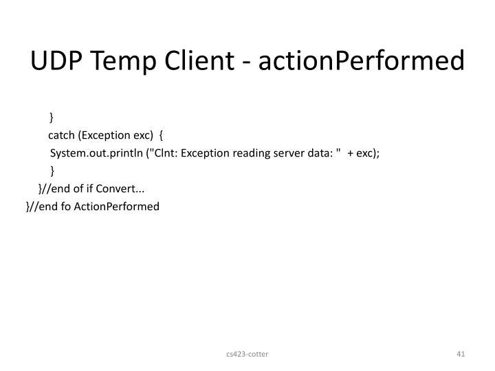 UDP Temp Client - actionPerformed