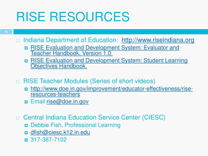 RISE resources
