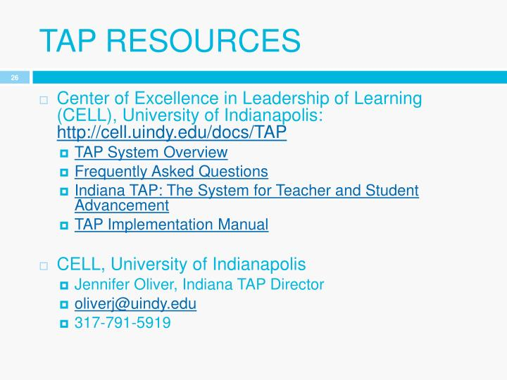 Tap resources