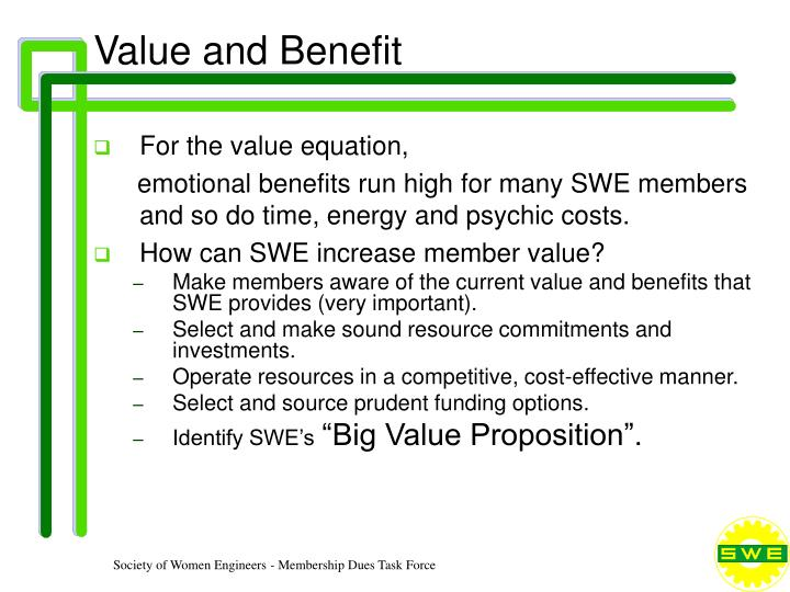 Value and benefit