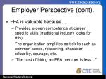 employer perspective cont