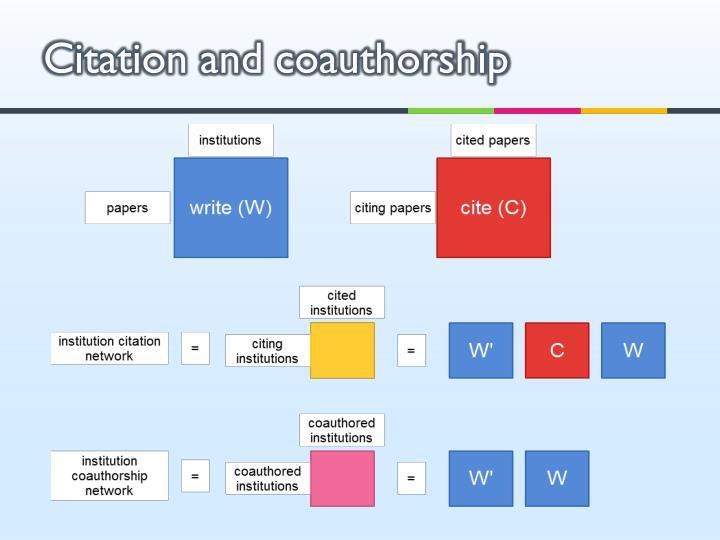 Citation and coauthorship