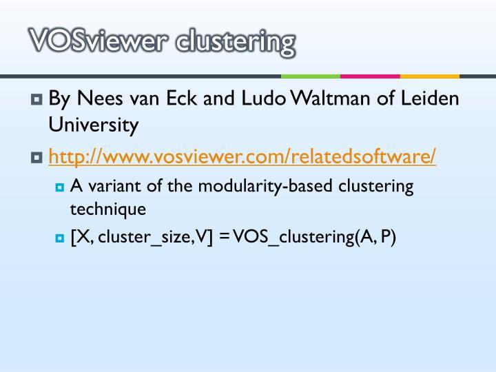 VOSviewer clustering