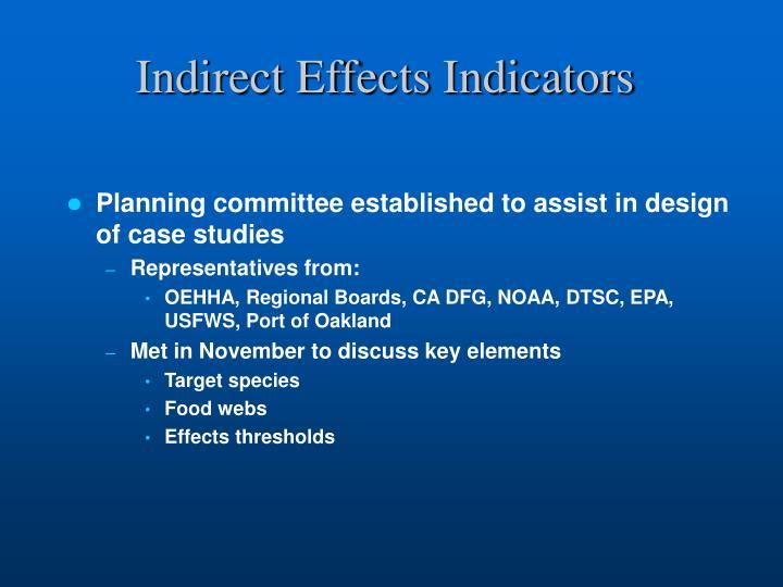 Indirect Effects Indicators