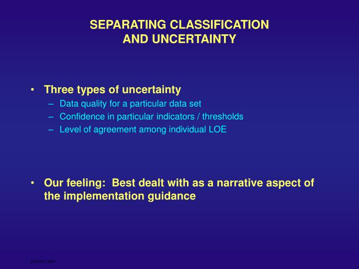 SEPARATING CLASSIFICATION