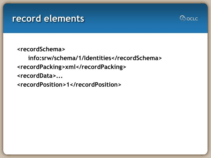 record elements