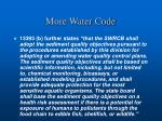 more water code
