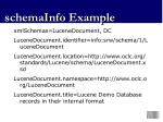 schemainfo example