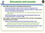 discussion and caveats