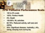 pps palliative performance scale