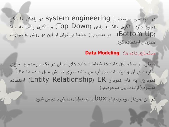 در مهندسی سیستم یا