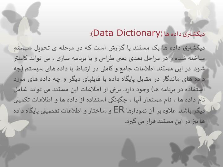 دیکشنری داده ها (