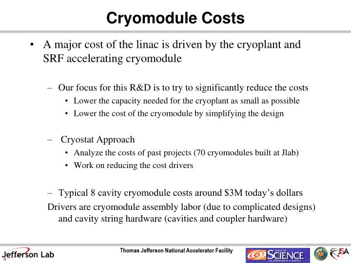 Cryomodule Costs