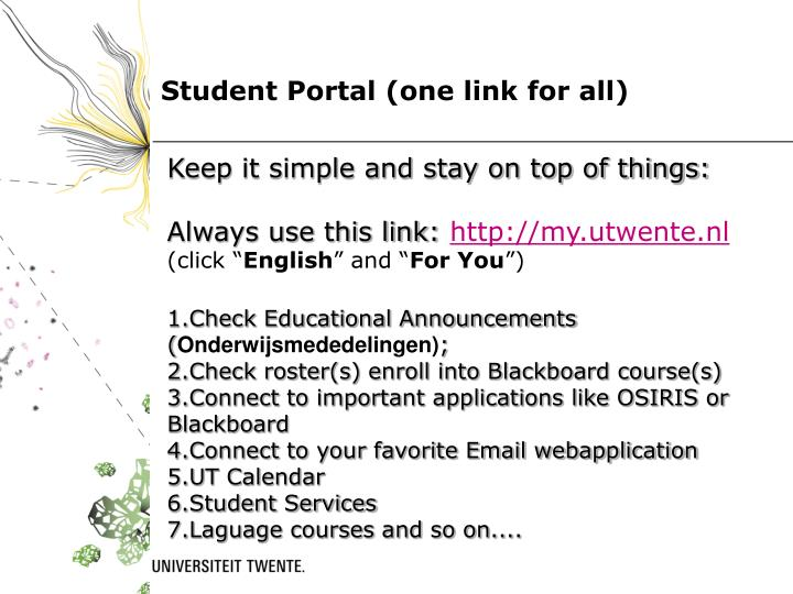 Student portal one link for all
