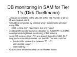 db monitoring in sam for tier 1 s dirk duellmann