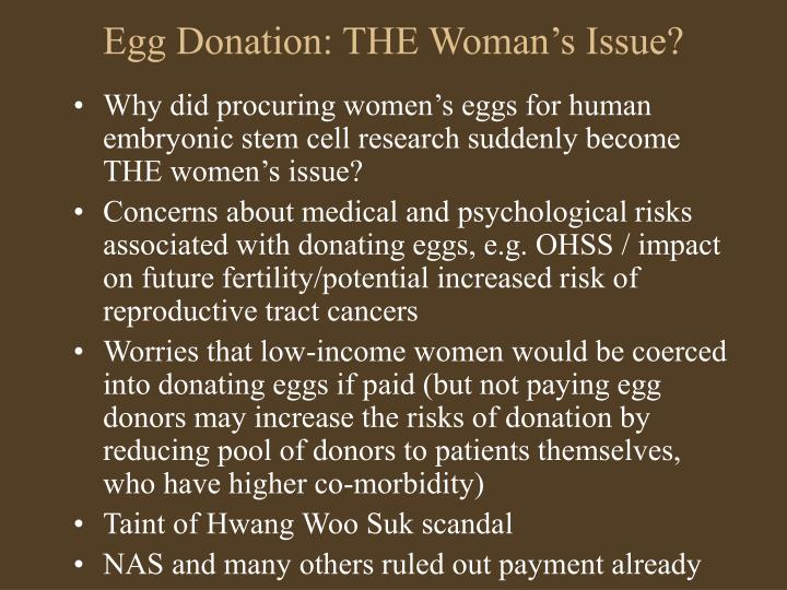 Egg Donation: THE Woman's Issue?