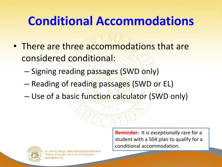 Conditional Accommodations