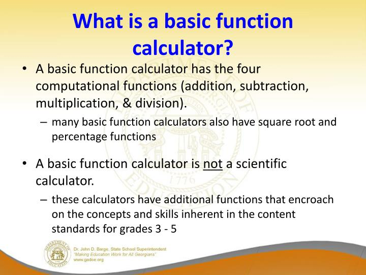What is a basic function calculator?